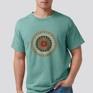 Detailed Orange Earth Mandala T-Shirt